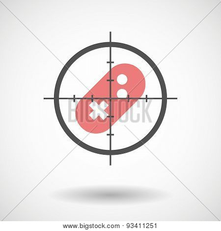 Crosshair Icon Targeting A Game Pad