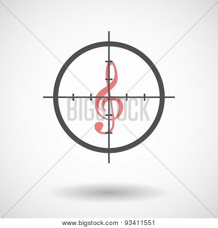 Crosshair Icon Targeting A G Clef