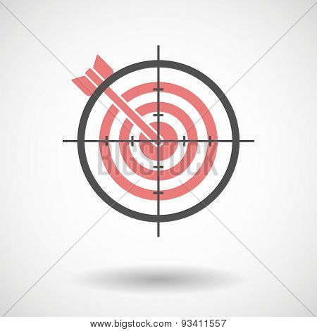 Crosshair Icon Targeting A Dartboard