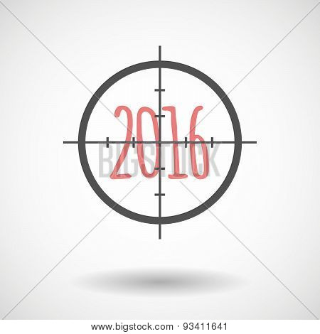 Crosshair Icon Targeting A 2016 Sign