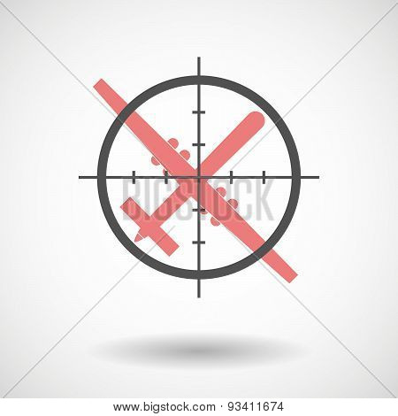 Crosshair Icon Targeting A War Drone