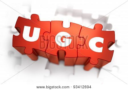 Word - UGC on Red Puzzle.