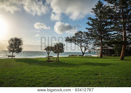 A View Of City Beach Picnic Grass Area In Perth