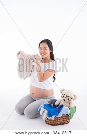 Showing Baby Clothes