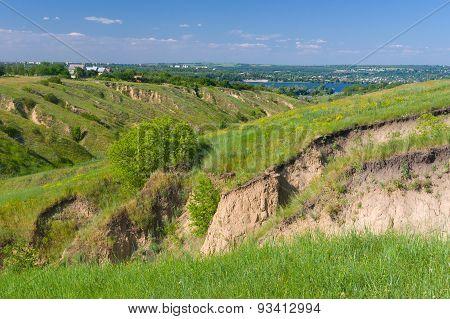 Summer landscape near Dnepr river