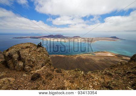 Harbor Rock Stone Sky In Lanzarote Spain Graciosa Miramar Del Rio