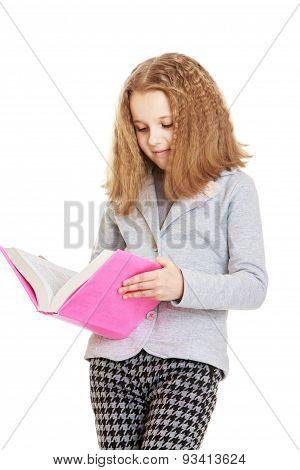 Elegant girl schoolgirl