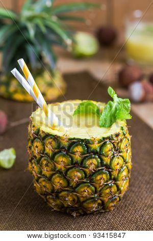 Pineapple With Lychee Smoothie