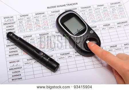 Test For Determination Level Sugar And Medical Form
