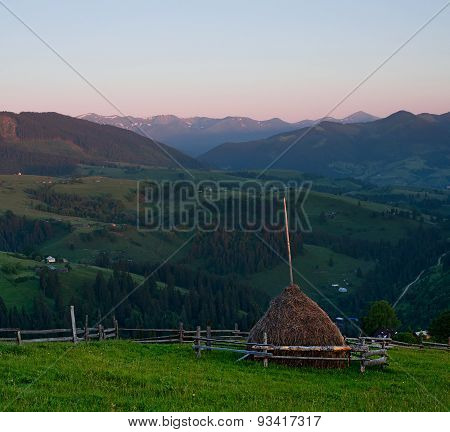 Rural Landscape With The  Haystack