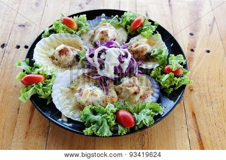 Scallops Baked Cheese