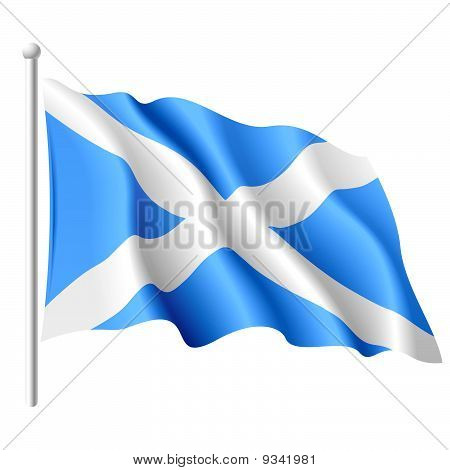 Flag of Scotland. Vector.