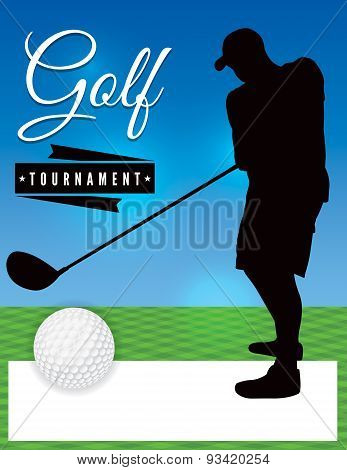 Golf Tournament Flyer Template Illustration