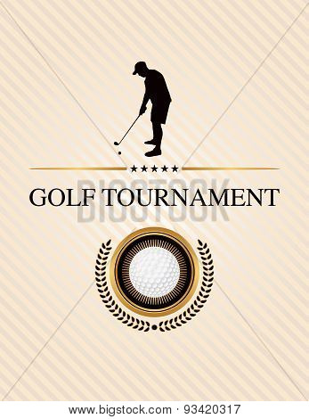 Golf Tournament Event Flyer Illustration