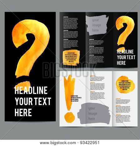 Vector modern tri-fold brochure design