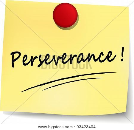 Perseverance Yellow Note