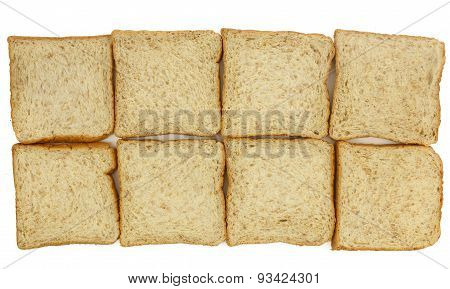 Top View Of Sliced Whole Wheat Breads