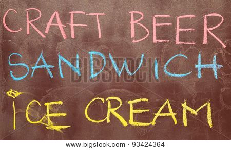 Written By Hand Creative Inscriptions With Chalk