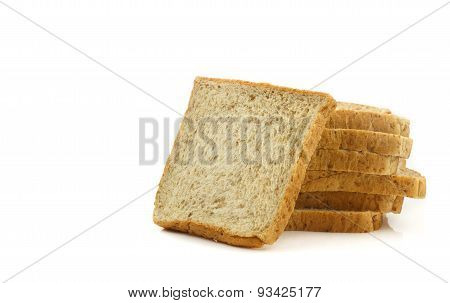 Heap Of Sliced Whole Wheat Breads
