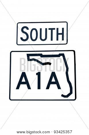 South A1A sign
