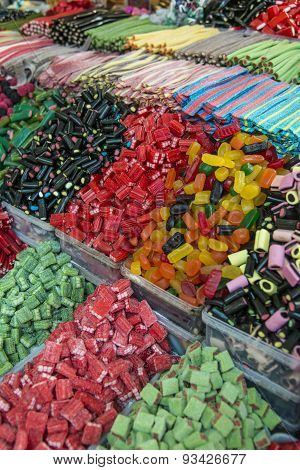 Sweets in market