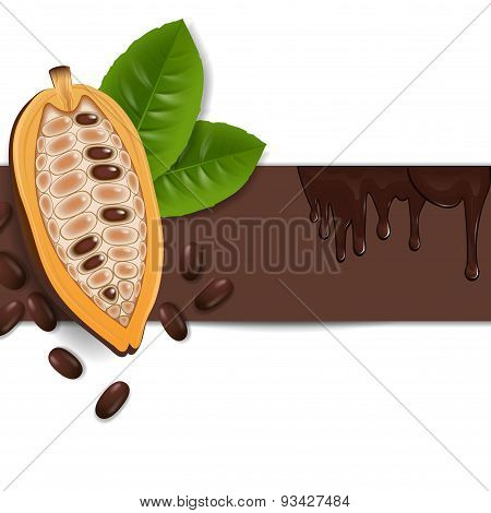 Background With Cocoa Beans
