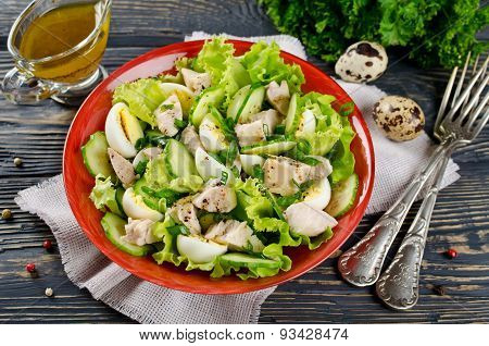 Vegetable Salad With Cod Liver