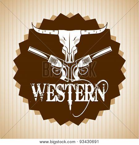 western banner design