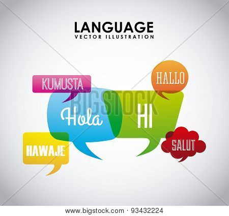 language poster design