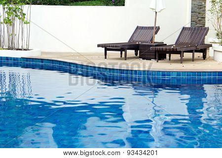 Beach Chair On Swimming Poll