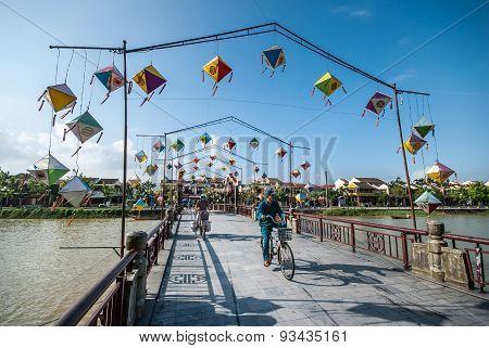 Bridge In Hoi An, Ancient Town Of Vietnam