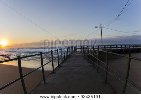 Beach Ocean Pool Dawn