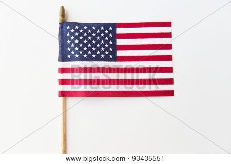 independence day, celebration, patriotism and holidays concept - close up of american flag at 4th july