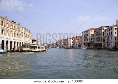 The Grand canal in Venice Italy on a nice day in June 2015