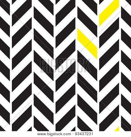 Chevron black and white alternate seamless pattern