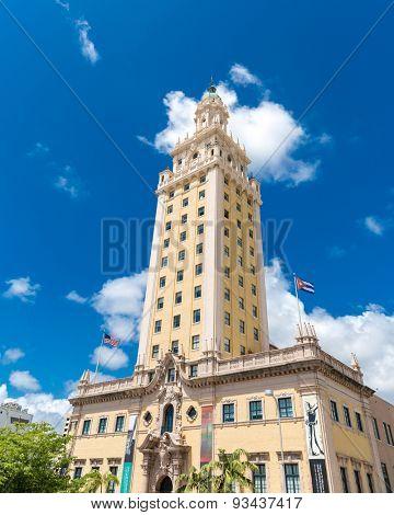 MIAMI, USA - CIRCA MAY 2015: The Freedom Tower in Miami, Florida, USA