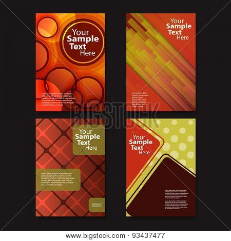 Flyer or Cover Design Set with Abstract Pattern