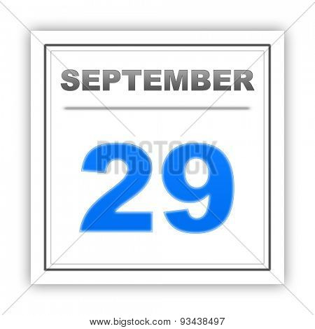 September 29. Day on the calendar. 3d