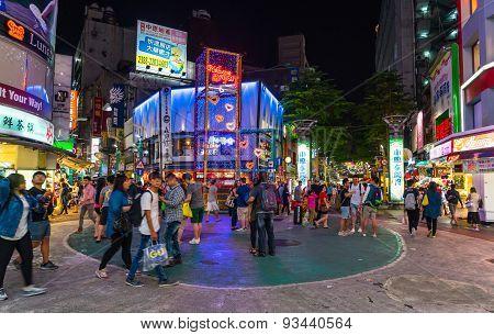 Ximending street market in Taipei, Taiwan