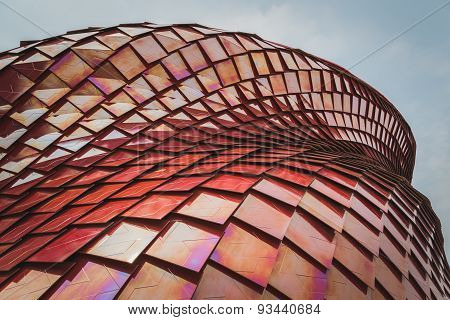 Architectural Detail Of Vanke Pavilion At Expo 2015 In Milan, Italy