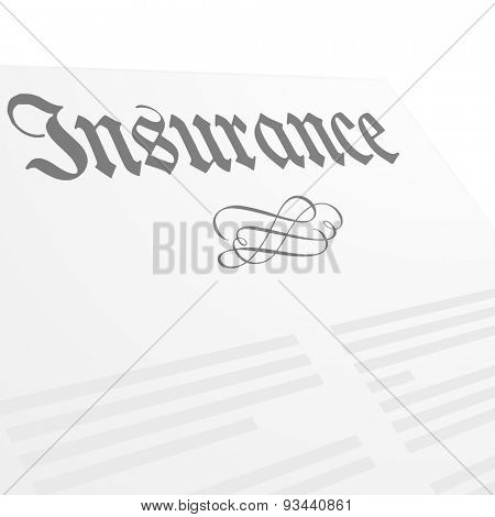 detailed illustration of an insurance letter head, eps10 vector