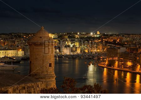 Scenic View On The Three Cities Of Malta