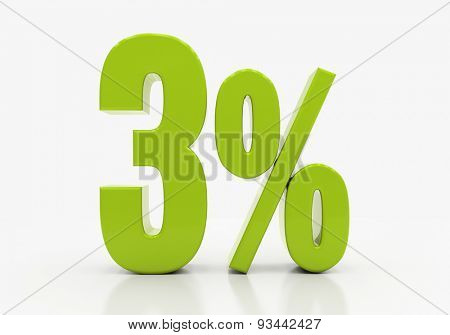 Percent off. Discount. 3D illustration