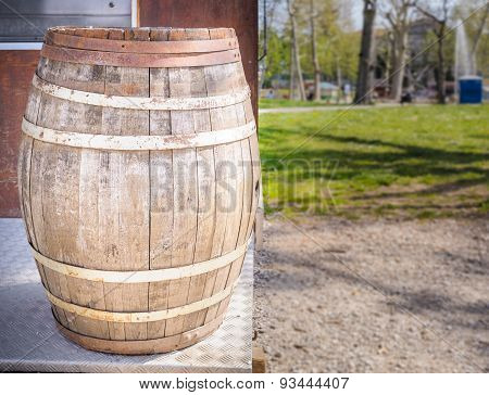 Old Oak Wine Barrel