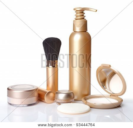 Brush For Make-up, Powder And Cosmetics Isolated