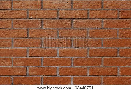 Equal and simple wall with new, nice bricks