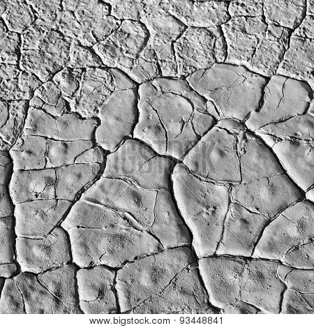 Dry weather. Dry and cracked earth background