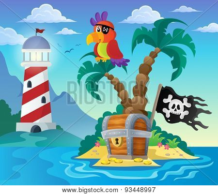 Small pirate island theme 3 - eps10 vector illustration.