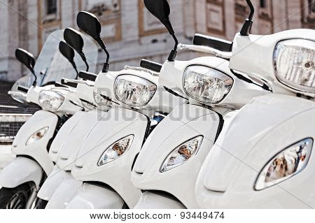 Row Of Scooter