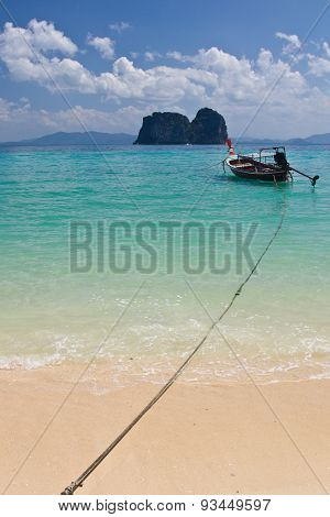 Boat At The Beach In Thailand
